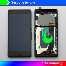 5 Original For Sony Xperia Z Display LCD Touch Screen with Frame For SONY Xperia Z Display Replacment L36H C6603 C6602 C6606 kinston colorful rhombus pattern plastic hard case for sony l36h xperia z white red