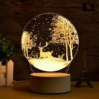 LED Carving 3D Moon Lamp Night Light USB Atmosphere Light Desk Lamp Earth Astronaut Moonlight Christmas