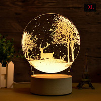 LED Carving 3D Moon Lamp Night Light USB Atmosphere Light Desk Lamp Earth Astronaut Moonlight Christmas Home Bedroom Decoration
