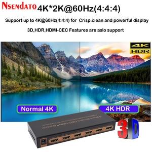 Image 3 - 5 Port akıllı CEC HDMI zamanlama anahtarı 4K 60Hz 18 Gbps 5x1 HDR HDMI adaptörü Switcher IR uzaktan için Dolby DTS HD LPCM HDTV PS4