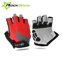 RockBros Cycling Gloves Half Finger Gel Pad Shockproof MTB Mountain Road Bike Gloves Bicycle Gloves Guantes
