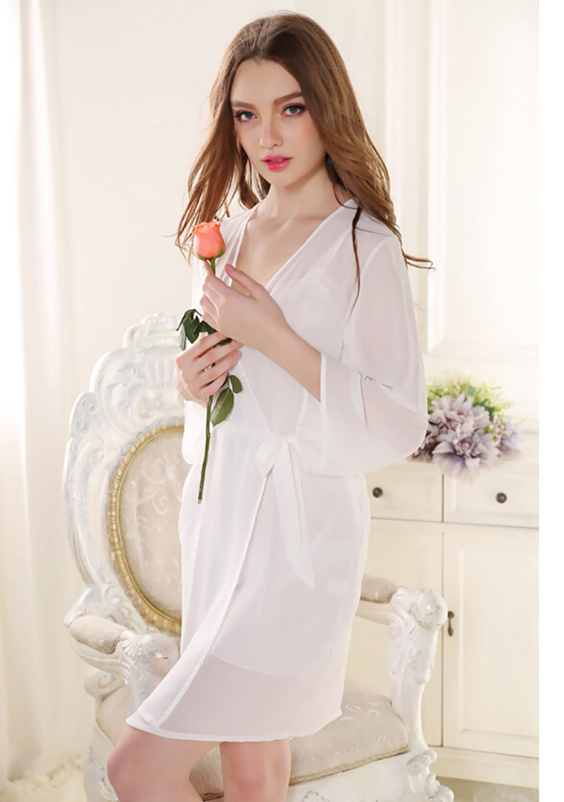 e078c2aa71 Sexy Women Nightwear Nightwear Robe Women Pink Satin For Woman Gown ...