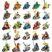 xinlexin HOT Compatible LegoINGlys NinjagoINGlys Sets Phantom Ninja tornado motorcycle With Weapons Action font b Toy