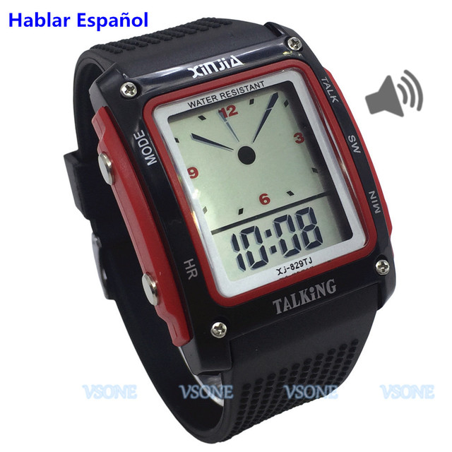 Newest Spanish Talking Watch for the Blind and Elderly Electronic Sports wristwa
