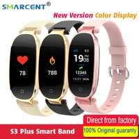 S3 plus relógio inteligente tela colorida à prova dwaterproof água monitor de freqüência cardíaca senhoras relógio inteligente relogio inteligente para android ios reloj