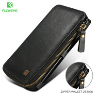 FLOVEME Luxury Wallet Phone Case For IPhone X 10 5 8 Retro Leather Phone Bag With