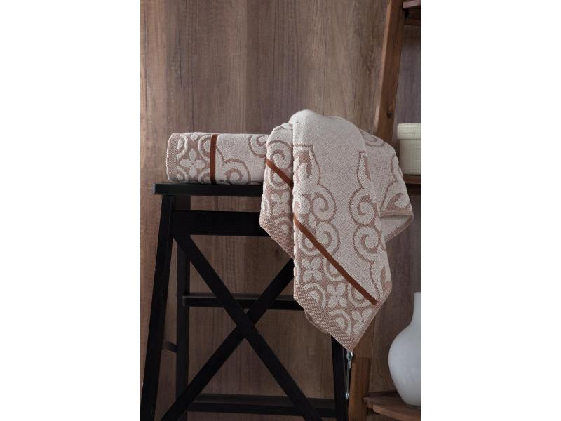 Towel bath KARNA, TUNUS, 70*140 cm, Brown towel bath santalino with рождением доченьки 70 140 cm