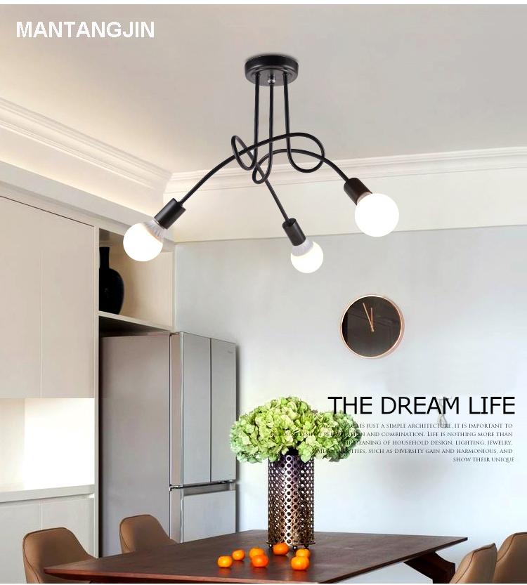 US $27.65 38% OFF|Vintage Deckenleuchten Decke Beleuchtung Schwarz Kreative  Persönlichkeit Deckenleuchten Leuchten Wohnzimmer Luminaria Lustre-in ...