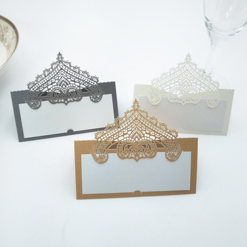 100Pcs Table Card Laser Cut Seat Cards For Wedding Party Favors Decoration Name Place Ca ...