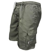 2018 Для мужчин с карманами военных грузов шорты Повседневное хлопковые свободные по колено армии тактические шорты Homme летние мужские спортивные штаны