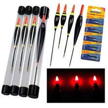 1pcs 3.5g 4g 6g 10g Glow Fishing Float LED Electric Light Tackle Luminous Electronic With Battery
