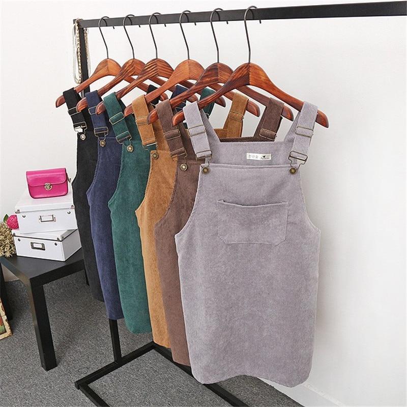 8 Colors 2017 Summer Korean Fashion Vintage College Wind Corduroy High Waist Skirts Women Midi Skirt