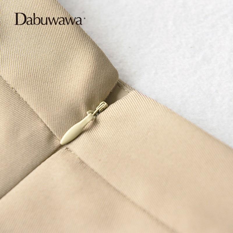 d894948d34c0 Dabuwawa Mid-Calf Umbrella Pleated Skirts Women Long A-Line Skirt British  Style Casual Street Wear Empire Waist Skirt #D17CSK029