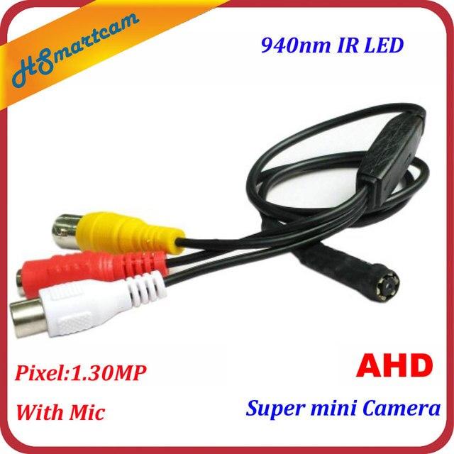 Super Mini HD AHD 720P telecamera CCTV sicurezza domestica 940nm IR LED telecamera Audio con telecamere Mic CVBS
