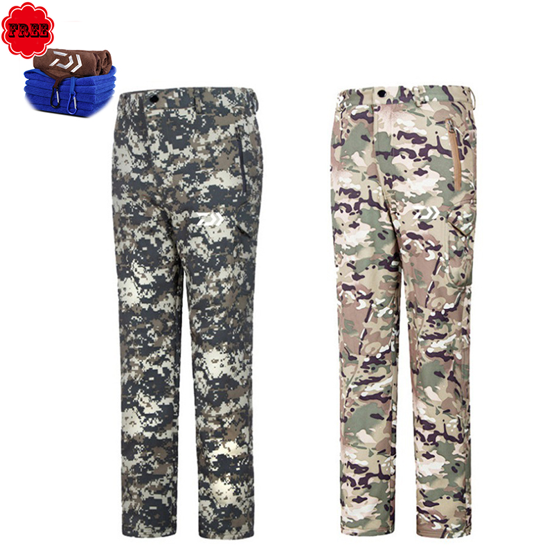 Winter Outdoor Fishing Clothing Camouflage Sports Men Pants Sports Men Jacket And Pants Fleece Warm Windproof For Fishing outdoor sports mirror windproof dust for women and men