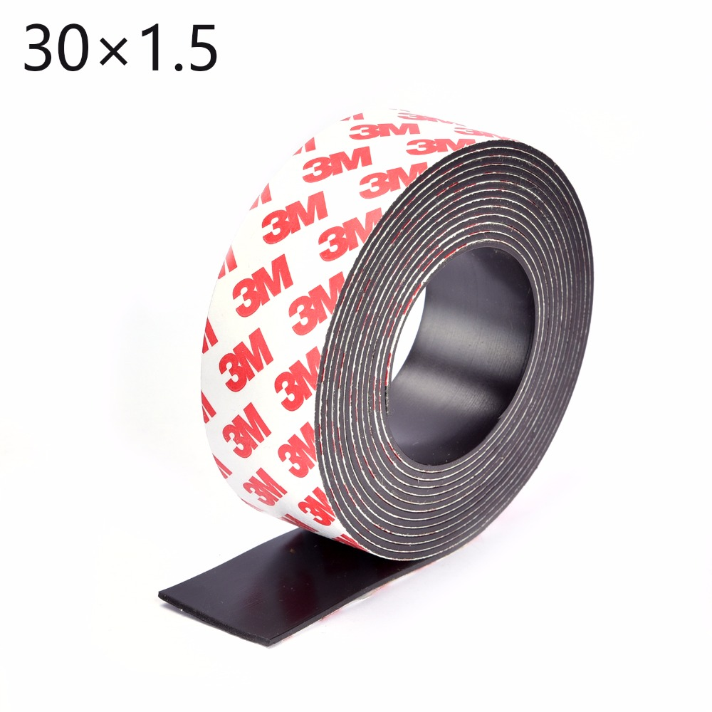 1 Meter self Adhesive Flexible Magnetic Strip 3M Rubber Magnet Tape width 30mm thickness 1.5mm 30*1.5 5m magnetic tape 50mm width 1 5mm thickness rubber magnetic strip tape flexible magnet diy craft tape