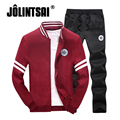 Jolintsai Sudaderas Hombre Autumn Hoodies Tracksuit Men 2017 Casaul Suit Men Plus Size 4XL Sportwear Sweat Sweatshirt Men Set