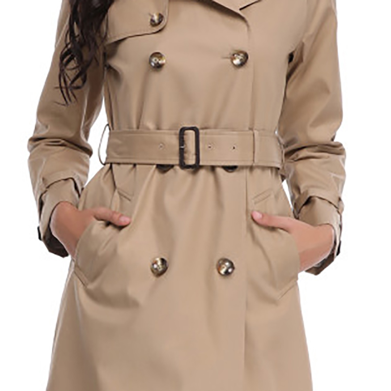 b7be849e4 2018 Autumn Spring New High Fashion Brand Woman Classic Double Breasted  Trench Coat Waterproof Raincoat Business Outerwear