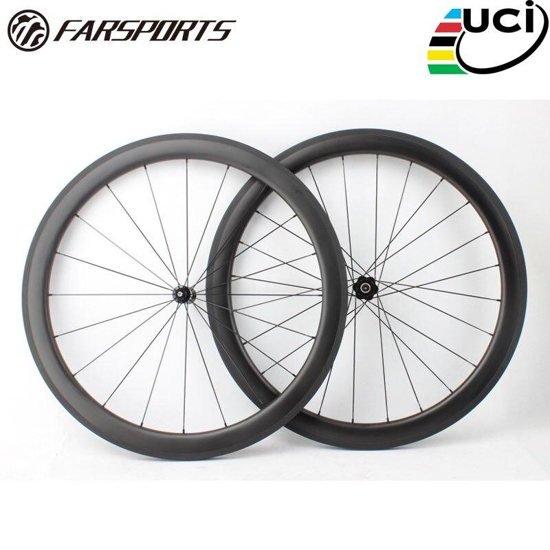Esportes longe FSC50-CM-25 DT350 50mm 25 milímetros rodas de bicicleta de carbono chinês 50mm 25mm, projeto tubeless clincher carbono roda da bicicleta 50