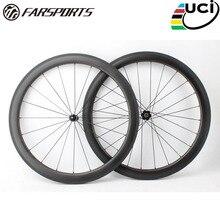Дальние спортивные FSC50-CM-25 DT350 50 мм 25 мм китайский карбоновые велосипедные колеса 50 мм 25 мм, карбоновый довод бескамерный дизайн колеса велосипеда 50