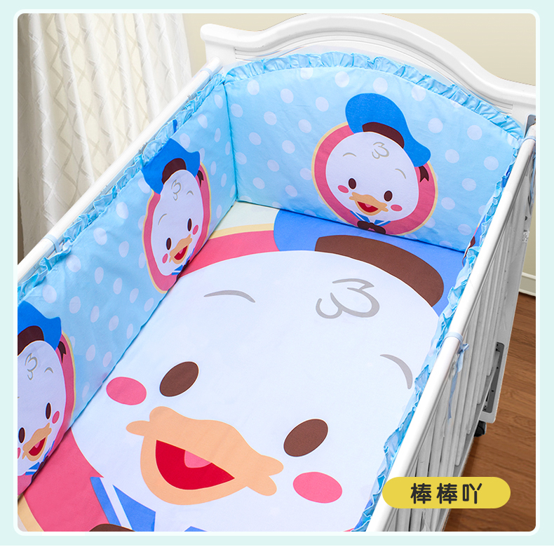 Promotion! 5PCS thickening bed around piece set bedding cotton 100% cotton baby beding (4bumper+sheet) promotion 5pcs 100