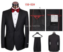 Free Shipping!One Button Men's Business Suits,Dress Suits(Coat+Pants)Single Breasted Wedding Suits for Men Free Shipping