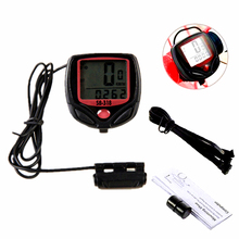 цена на HOT! Waterproof Bike Computer,Bicycle Meter Odometer Speedometer With LCD Display,Cycling Computer Velocimetro Wired Stopwatch