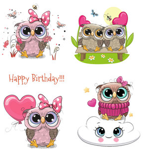 Cute Owl Animal Iron on Patches Heat Transfer Stickers Thermo Transfer for Clothes Kids DIY Tops T-shirt Decor Badges Print E