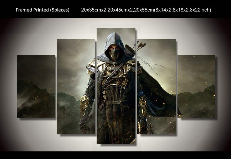 Perfect Hd Printed 5 Pieces Assassins Creed Game Painting Room Decoration