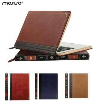 MOSISO Vintage PU Laptop Sleeve Case for Macbook Air13 2010-2017 PU Leather Cover for New Macbook Air Pro 13 2018 2019 Touch Bar