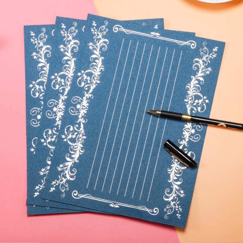 Fast Deliver 12 Sheet 19 X 26 Cm Europe High-grade Hot Stamping Ancient Letter Paper Letter Pad Set/set Writing Paper Office&school Supplie Low Price Mail & Shipping Supplies