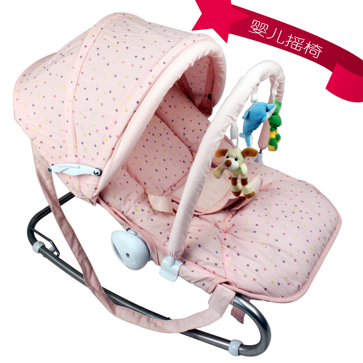 Electric baby rocker chair - 2017 Direct Selling Top Fashion 18kg Metal Print Multifunctional Baby Rocking Chair Cradle Reassure The Chaise Lounge Electric