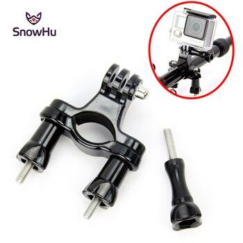 цена на SnowHu for Gopro Accessories Bike Motorcycle Handlebar Seatpost Pole Mount Tripod for Go pro Hero 8 7 6 5 4 Camera yi SJCAM GP01