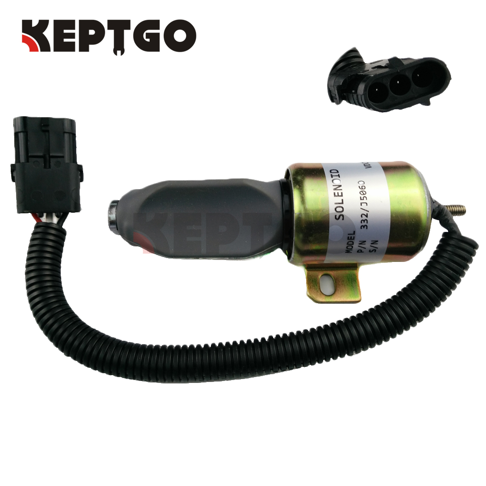 332/J5060 24V Stop Solenoid For JCB Stopper Motor fuel shutdown solenoid valve 332 j5060 its for jcb excavator 24v stop solenoid