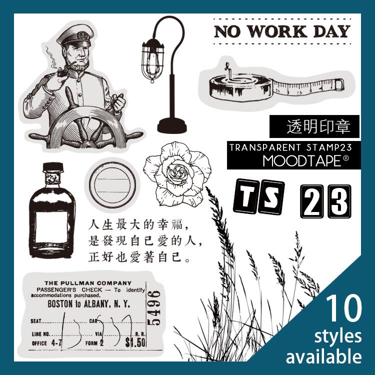 Moodtape Vintage Clear Stamp For DIY Scrapbooking/photo Album Decorative Transparent Stamp Memo Calendar Rubber Stamp Seal