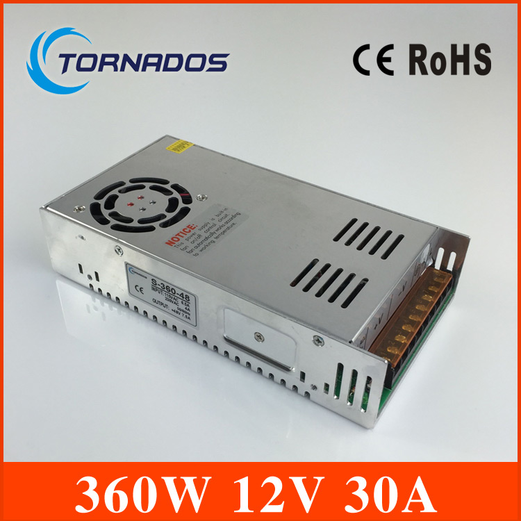 Power Supply 12V 30A 360W led power supply 12v dc Single Output Switching power supply for LED Strip CNC 3D Print Free shipping freeshipoing 360w led switching power supply 85 265ac input 12v 30a for led strip light power suply ce rosh 12 output