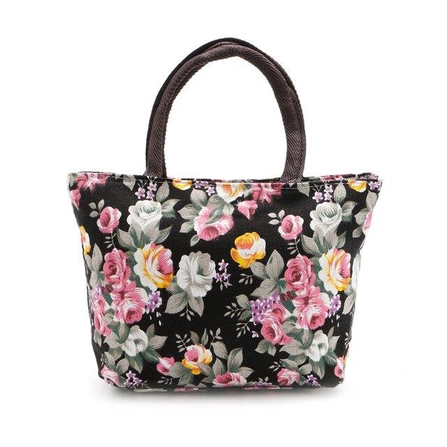 ef9079fc59 shoulder bag Ladies Canvas Zip Floral Handbag Tote Purse Messenger Hobo Bag  Satchel Bags Colorful New Brand Handbag