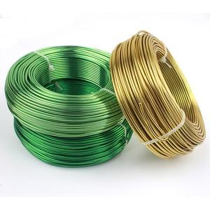 Image 5 - Bobina de alambre suave para manualidades, aluminio de colores, 55m, 180 pies, 60 yardas, 2mm, calibre 12, alambre para suministros de joyería, envío gratis