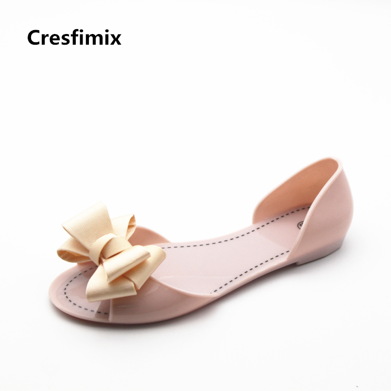 Cresfimix sandalias de mujer women soft & comfortable jelly sandals lady cute spring & summer flat sandals lady cool sandals cresfimix women cute spring