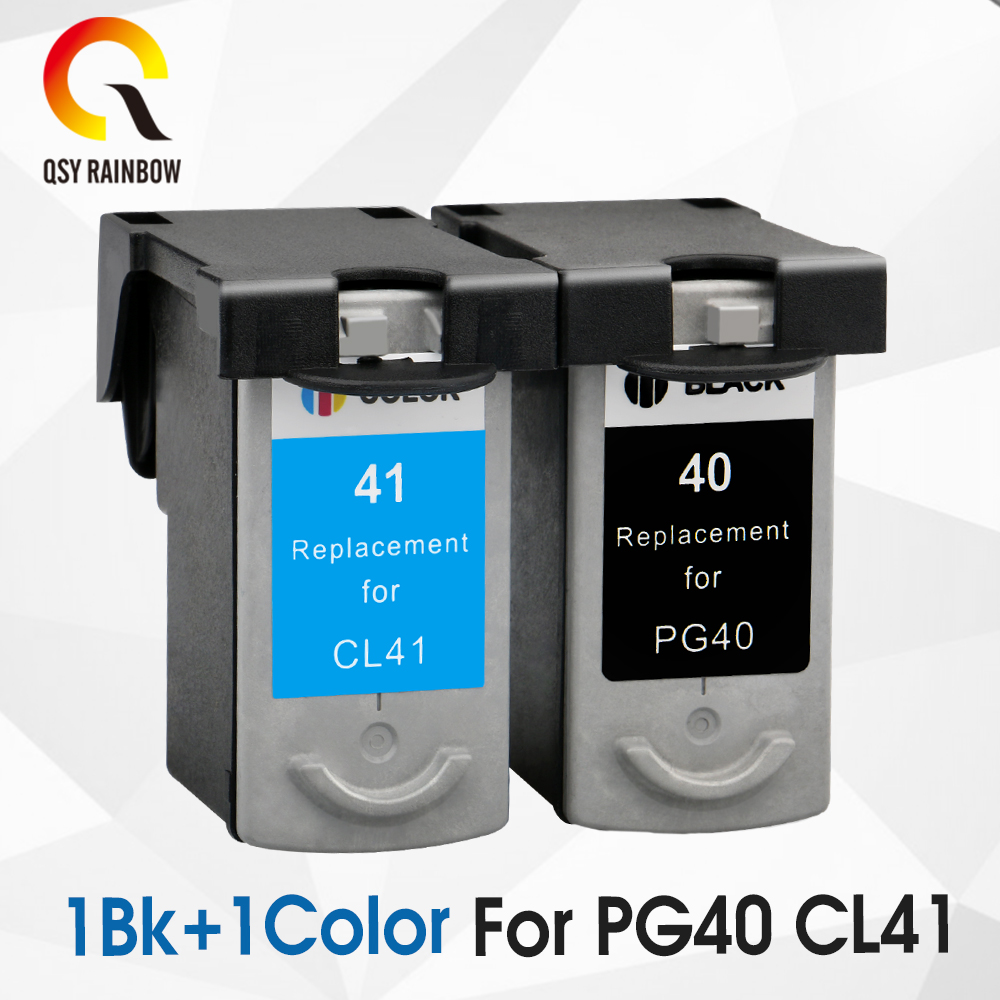 2pcs Compatible ink cartridges For Canon PG40 CL41 PG-40 CL-41 iP1600 / IP1700 / IP1800 PG 40 CL41 MP140 MP450 MP470 printer