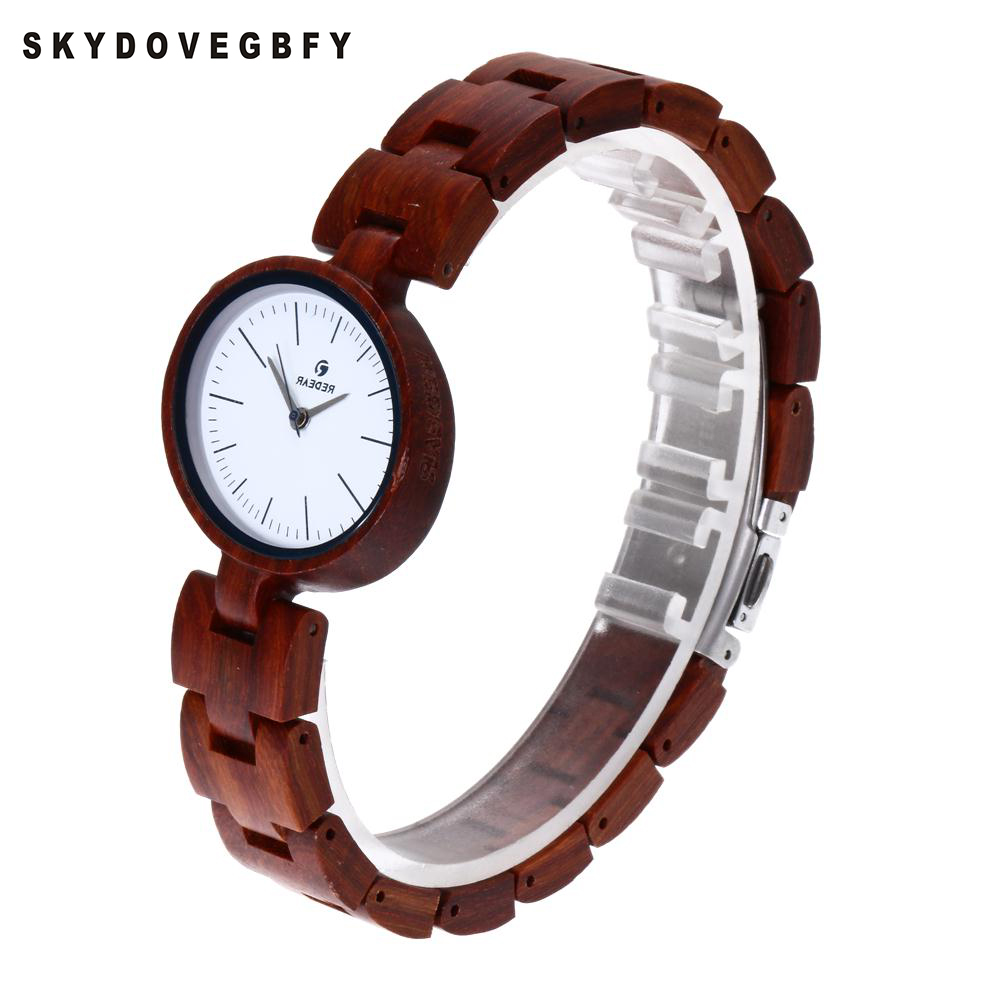 SKYDOVEGBFY Wooden Watches Women 2018 Rose Wood Hot Creative Watches Women Wood Watches Wood Women Watches aa wooden watches w1 orange aa wooden watches