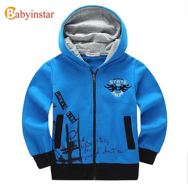 Hoodies das crianças para Meninos 8-14 anos Garoto 2016 Outono Outono Criança Outerwear Ocasional Bordado do Adolescente Esportes Hoodies & Camisolas