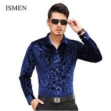 ISMEN Men's Shirts British Style Long-Sleeve Shirts Male Slim Casual Clothes Men's Dress Shirt Masculina Camisa Vetement Homme