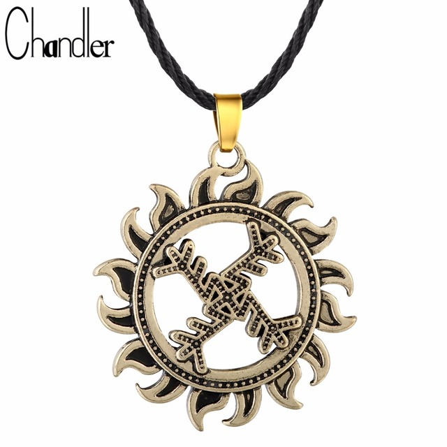 Chandler Swastika Whirling Log Pendant Necklace For Women Men Good