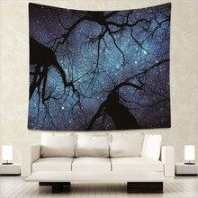 Psychedelic starry sky print Indian tapestry hippie mandala wall hanging Bohemian bedspread dorm decor tapestries 130x150cm GA3 цены онлайн