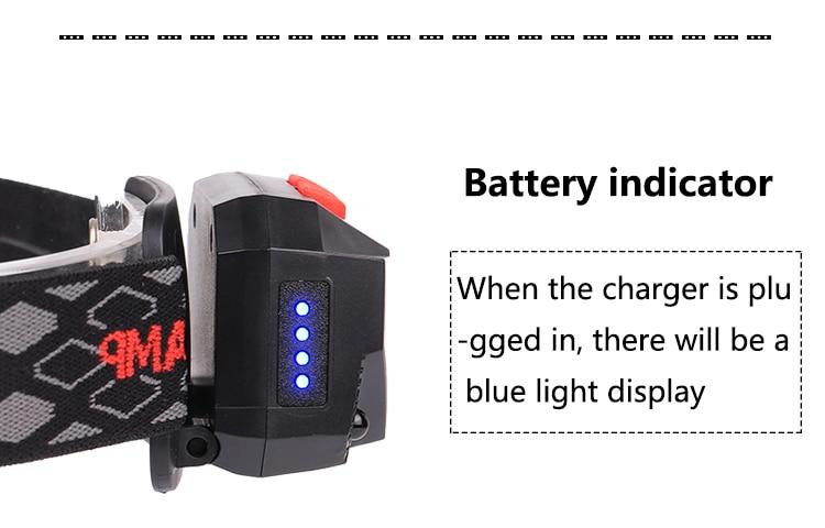 18650 bateria ultraleve pequena lâmpada de cabeça lanterna