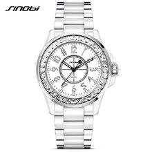 SINOBI 2017 Horloge À Quartz Dames Bracelet de Montre-Bracelet Femmes En Acier Inoxydable Montres De Luxe Marque Horloge Montres Hommes