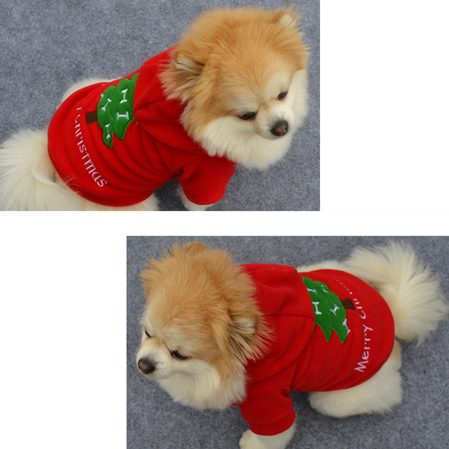 christmas santa dog clothes for dog costume pet dog christmas clothes winter coat clothing cute puppy