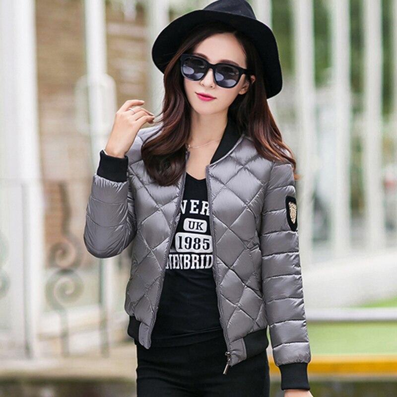Manteau Court Nouveau Coton Noir Mode Unie Couleur lavande Parkas Haute Veste Chaud Femmes gris Mince D'hiver marron De Femelle Casual Qualité q66pE4
