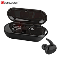 Langsdom Touch Control Bluetooth Headset With Mic Mini TWS Wireless Stereo Earphone With Charger Box Wireless